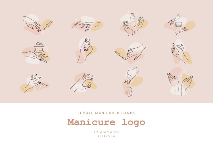 Female manicured hands example image 1