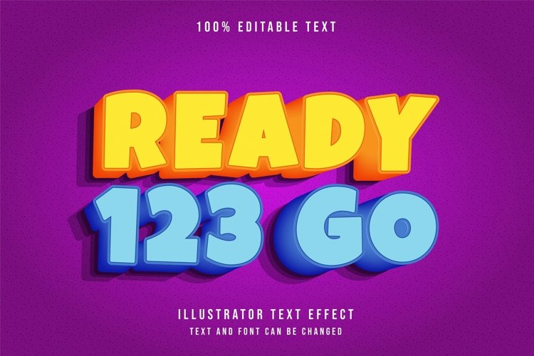 Ready 123 go - Text Effect example image 1