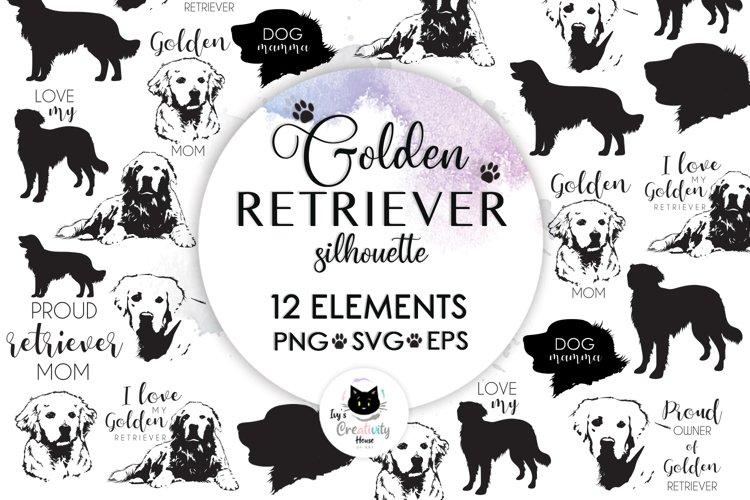Dog Breeds, Dog Clipart, Dog Svg, Golden Retriever Svg example image 1