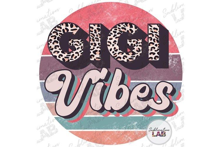 Gigi Vibes Design Sublimation Retro Leopard Fathers Day example image 1