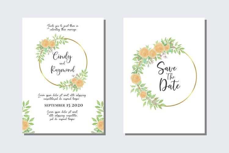 Wedding Invitations Set Card SVG, EPS, PNG example image 1