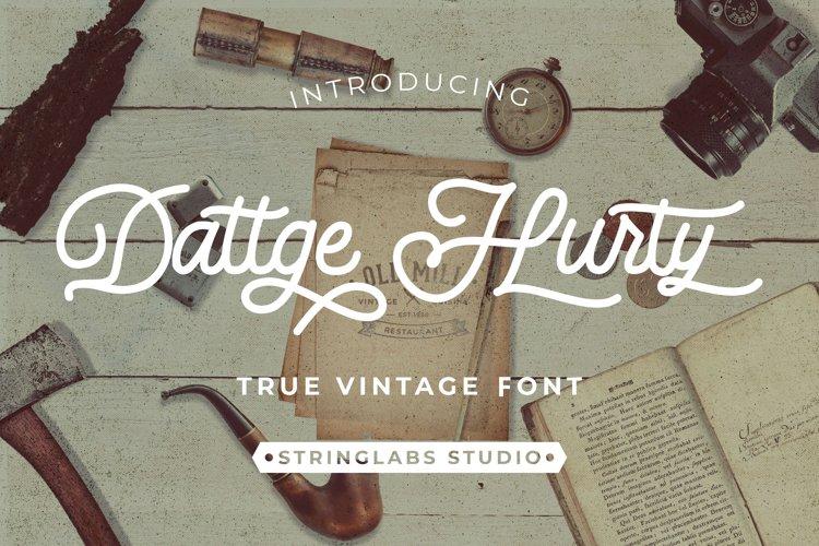 Dattge Hurty - Monoline Retro Font example image 1