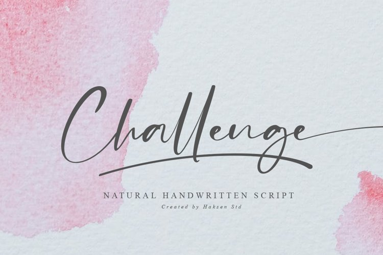 Challenge // Casual Handwritten Font example image 1