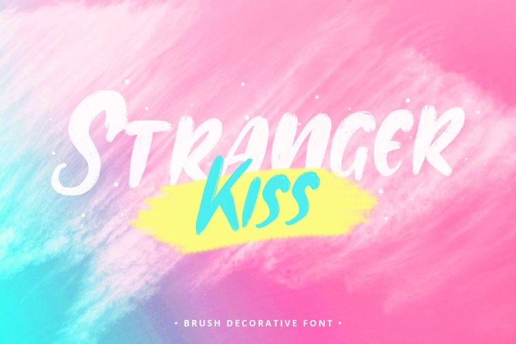 Stranger Kiss Brush Decorative Font example image 1