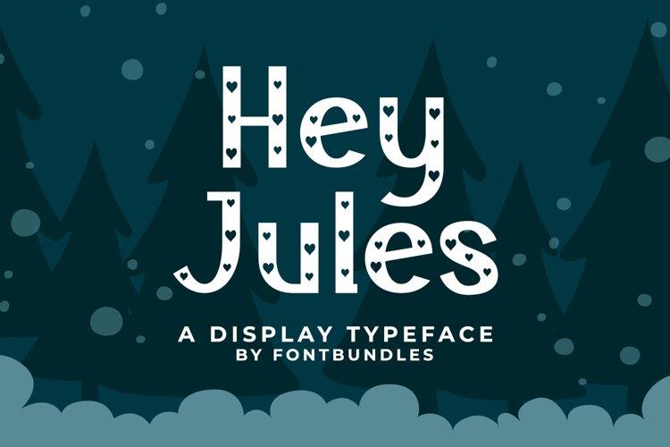 Web Font Hey Jules example image 1
