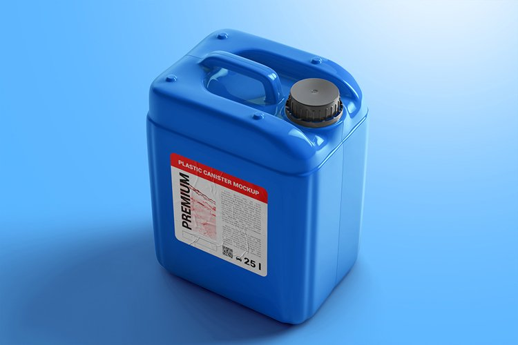 Plastic Canister Mockup example image 1