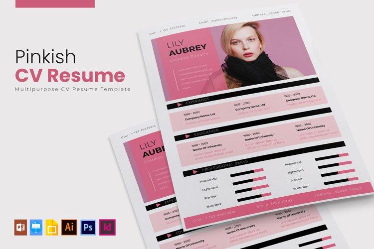 Pinkish | CV & Resume example image 1