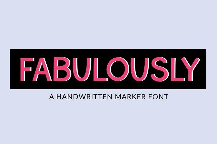 Web Font Fabulously - a handwritten marker font example image 1