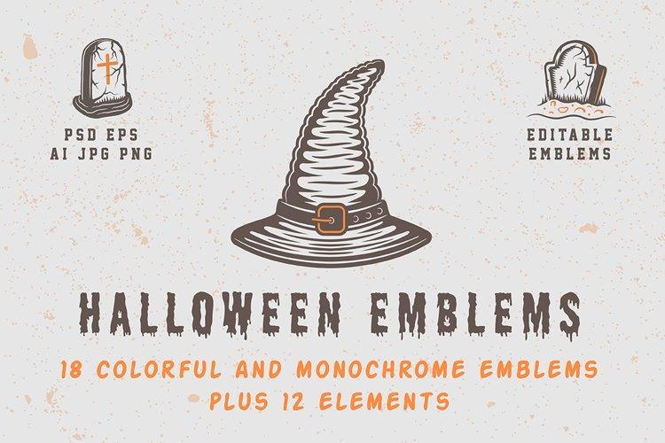 Vintage Halloween Emblems Part 1 example image 1