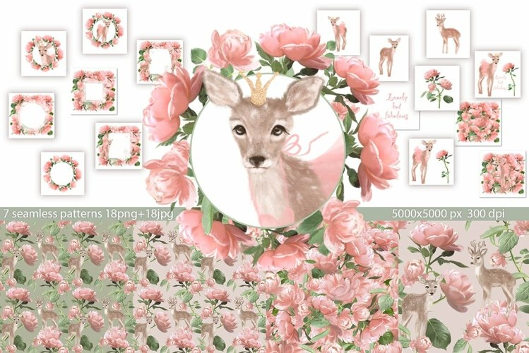 Deer and Roses example image 1