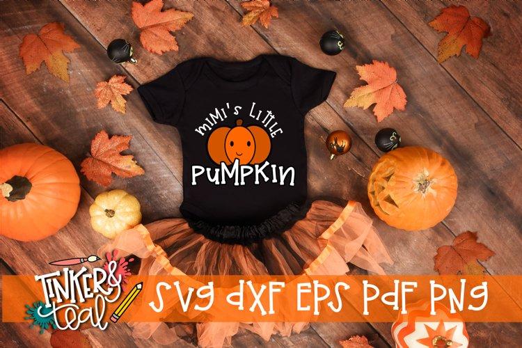 Mimi's Little Pumpkin Fall SVG example image 1