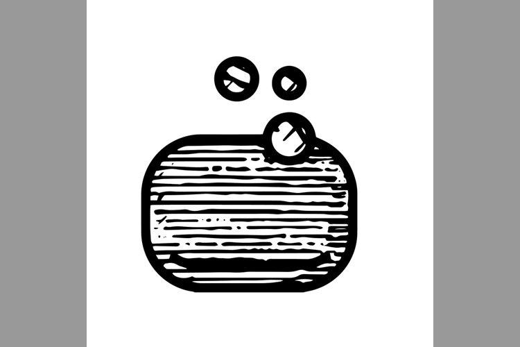 hand drawn soap symbol line icon, Vector Illustration example image 1