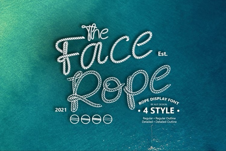 Face Rope Typeface example image 1