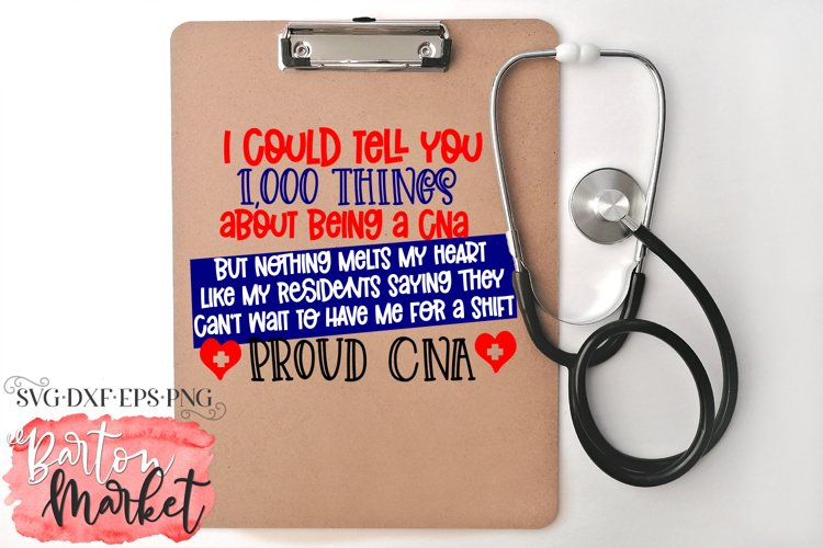 1000 Things About Being A Proud CNA for Crafters
