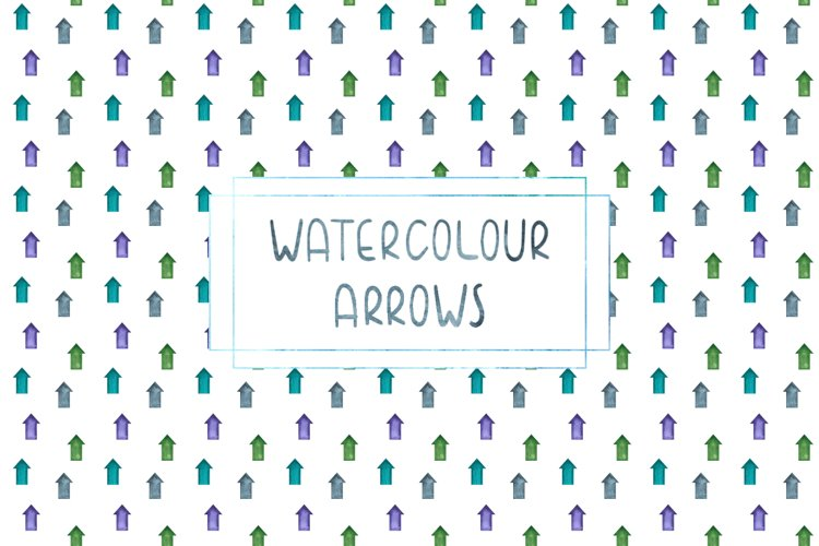 Set of watercolour arrows patterns, PNG and JPEG