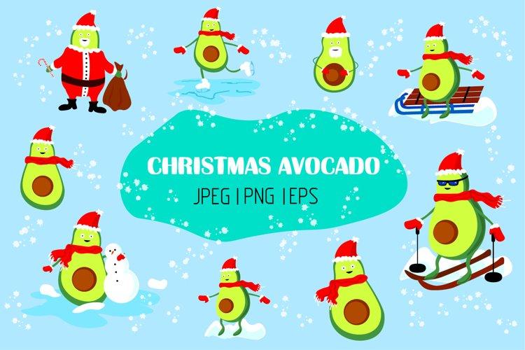 Merry Christmas Avocado