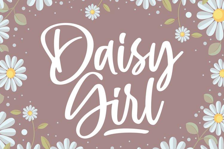 Daisy Girl - Cute Script Font example image 1
