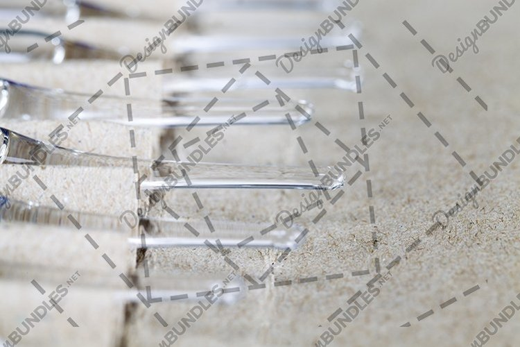 transparent glass ampoules with medicine example image 1