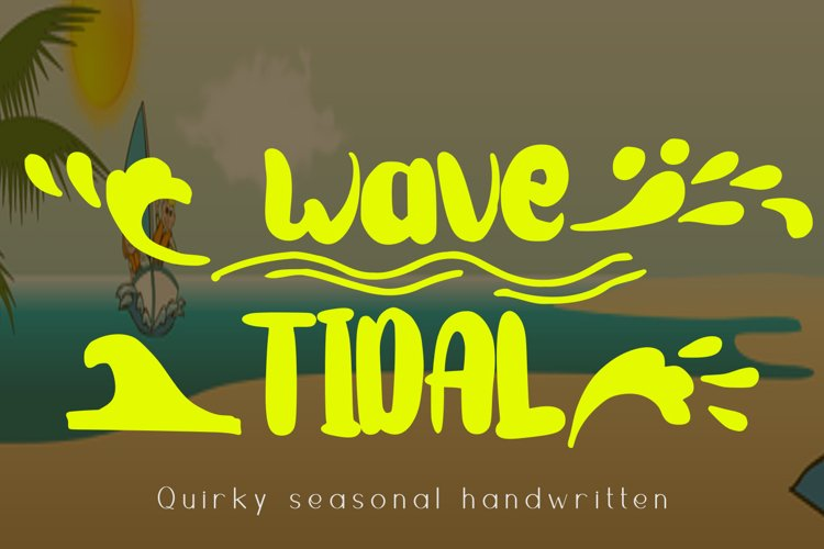 Wave Tidal Quirky Handwritten Font example image 1