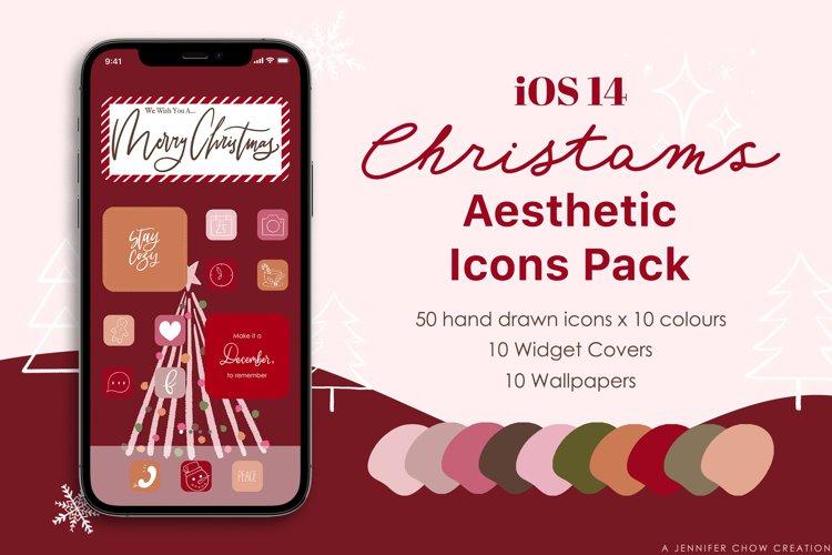 iOS 14 Christmas Phone Aesthetic Hand Drawn App Icons