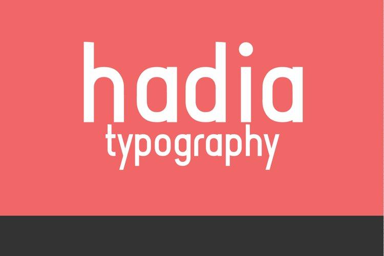 Hadia Typography example image 1