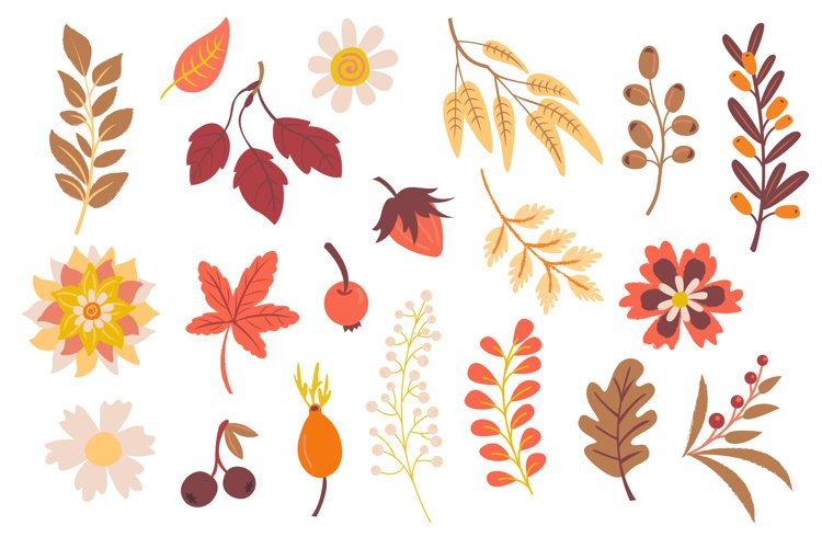 Autumn Foxes and Fall Elements, Woodland Animals Clipart example 2