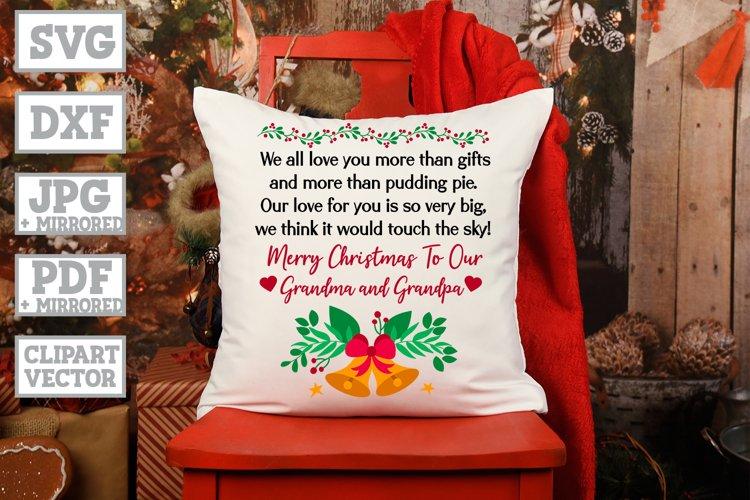 Christmas Wish For Grandparents - Grandpa Grandma Gift SVG example image 1
