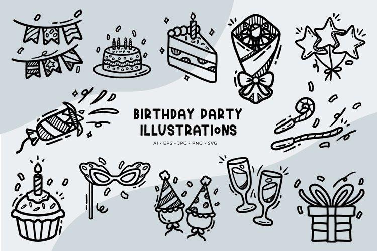 Birthday Party illustrations