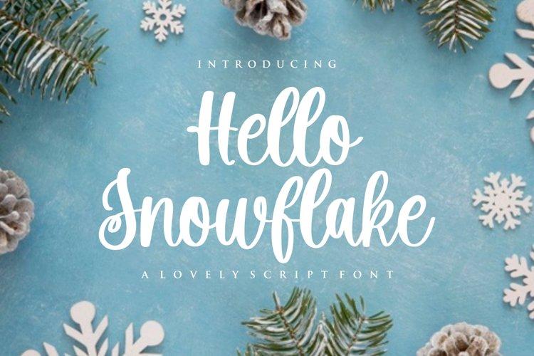 Hello Snowflake - a script winter font example image 1