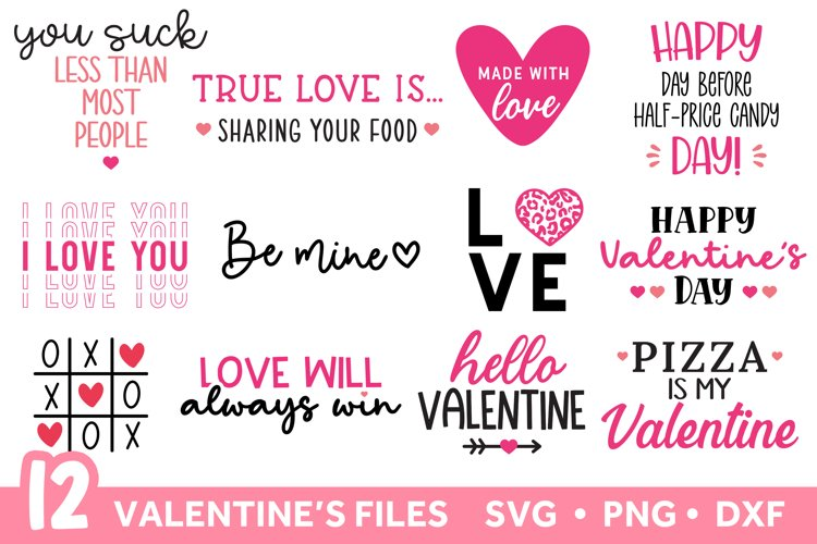 Valentines SVG Bundle, Valentines Day SVG Bundle example image 1