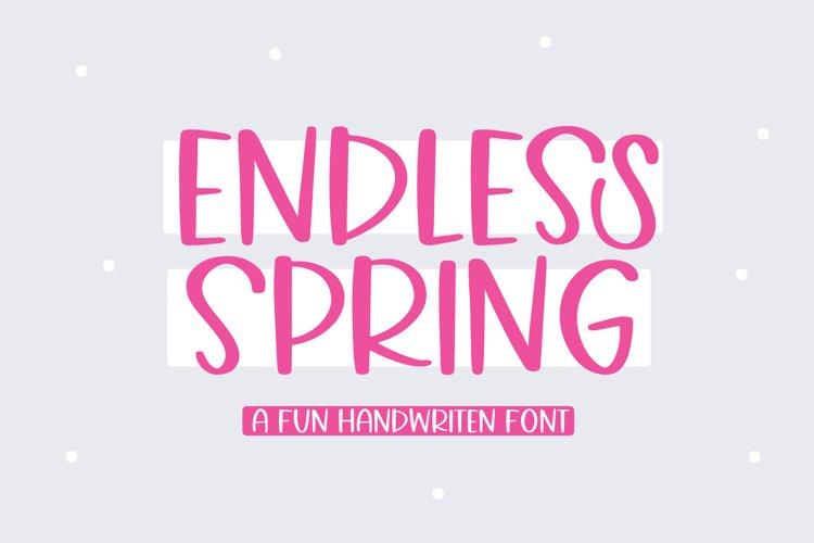 Endless Spring - A Fun Handwritten Font example image 1