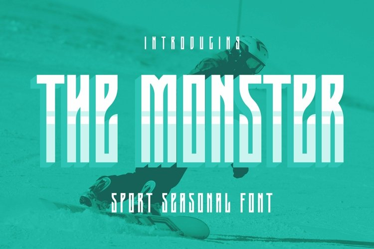 Web Font The Monster Font example image 1