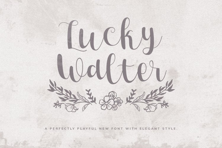 Lucky Walter - Elegant Style Font! example image 1