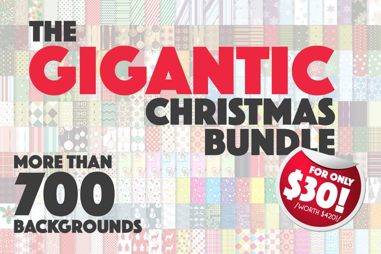 Christmas Bundle of Patterns | Sublimation Bundle
