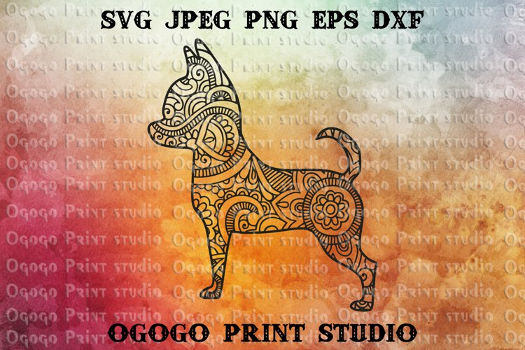 Mandala style Chihuahua SVG, Zentangle svg, Pet svg, Dog Svg