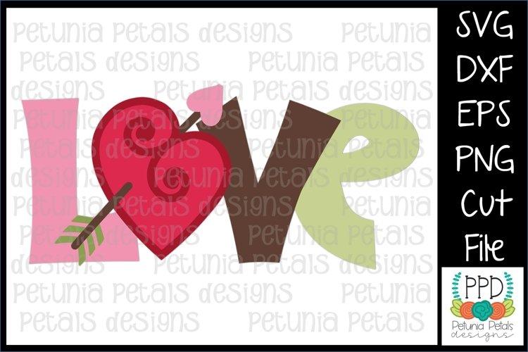 Love Valentine Heart SVG Cut File 11234