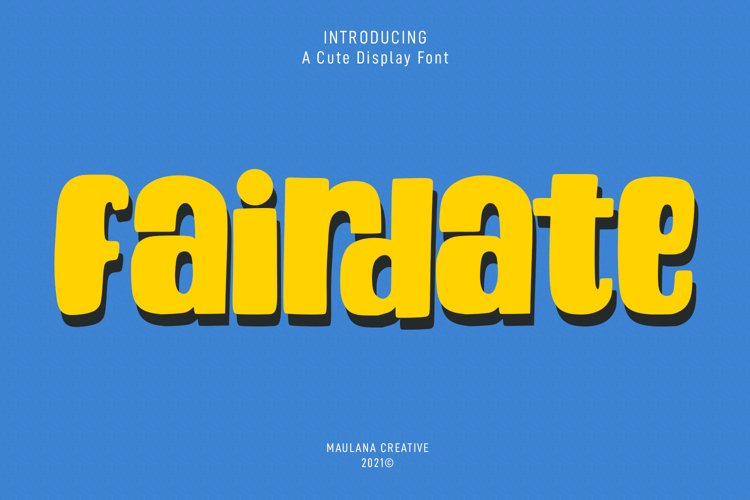 Fairdate Cute Display Font example image 1