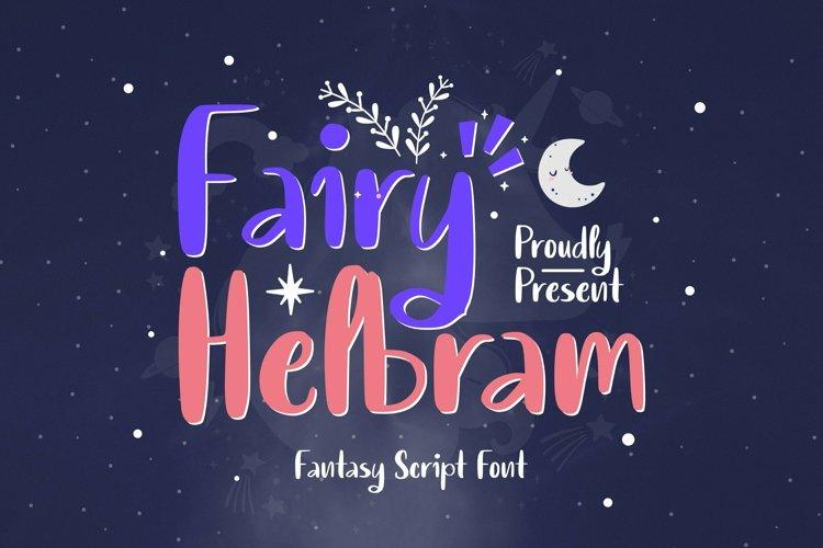Web Font Fairy Helbram Font