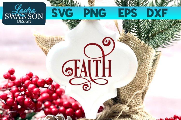 Faith SVG Cut File | Christmas SVG Cut File example image 1