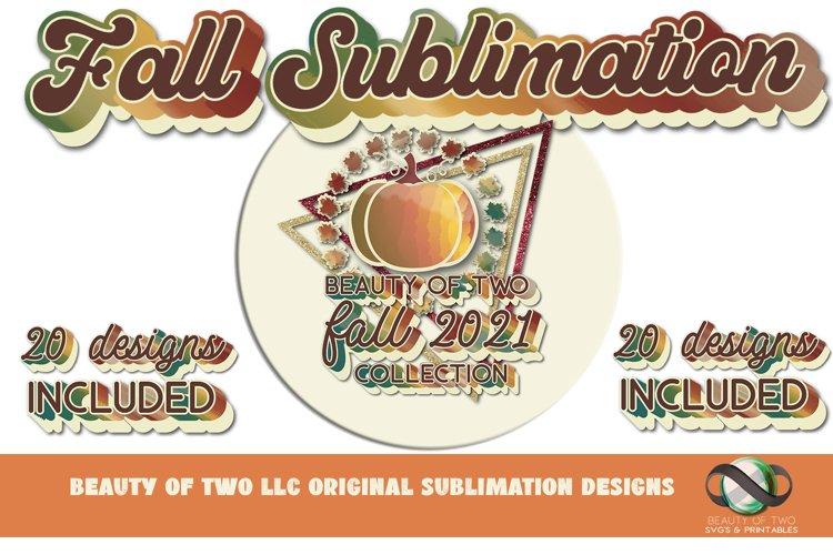 Sublimation Fall 2021 Collection Bundle 20 Retro png Designs