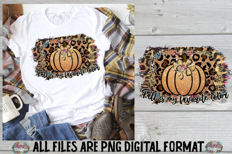 Fall Truck Pumpkin Sublimation Design example image 1