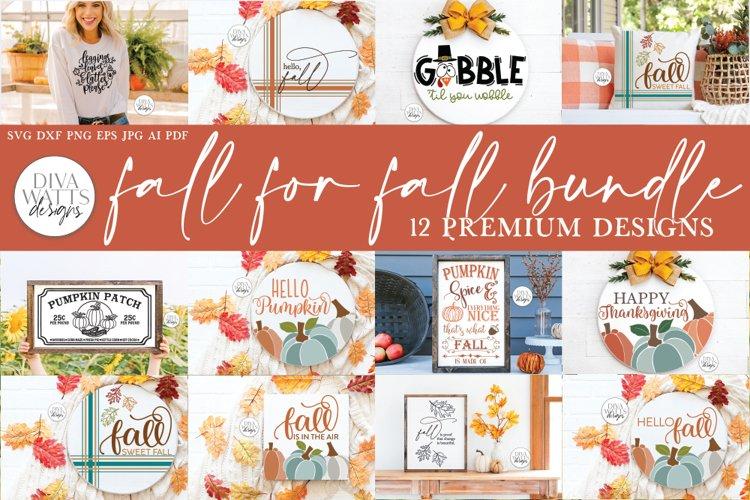 Fall For Fall SVG Bundle   Autumn Design Bundle example image 1