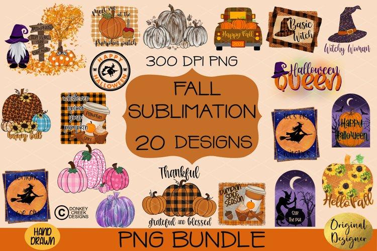 Halloween & Fall Sublimation Bundle- Hand drawn Designs