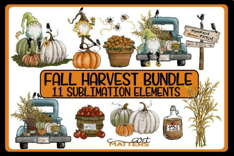 Fall Harvest Bundle 11 elements - Hand Painted - 300 DPI