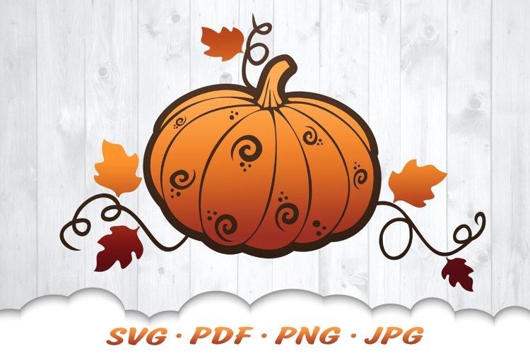 Fall Pumpkin SVG Files For Cricut example image 1