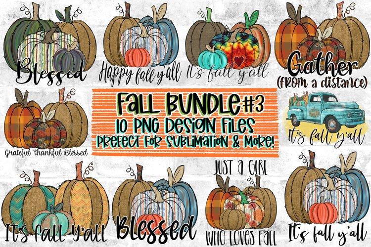 Fall/Pumpkin Design Bundle|10 designs included|Sublimation example image 1
