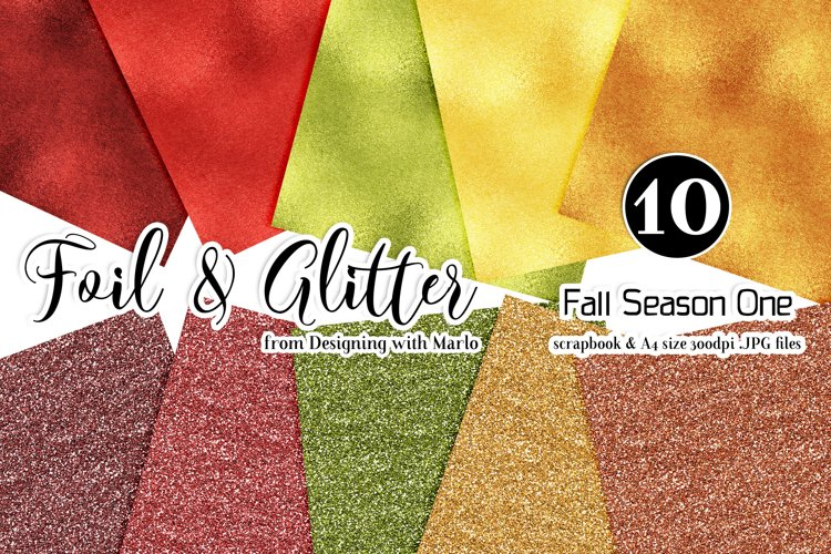 Fall Season One - Foil & Glitter Backgrounds - Two Sizes