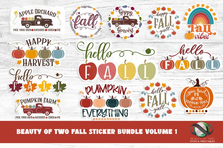 Sticker Bundle Fall Stickers 13 png Fall Printable Stickers example image 1