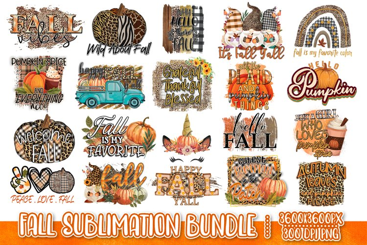 Fall Sublimation Bundle - Fall PNG Sublimation