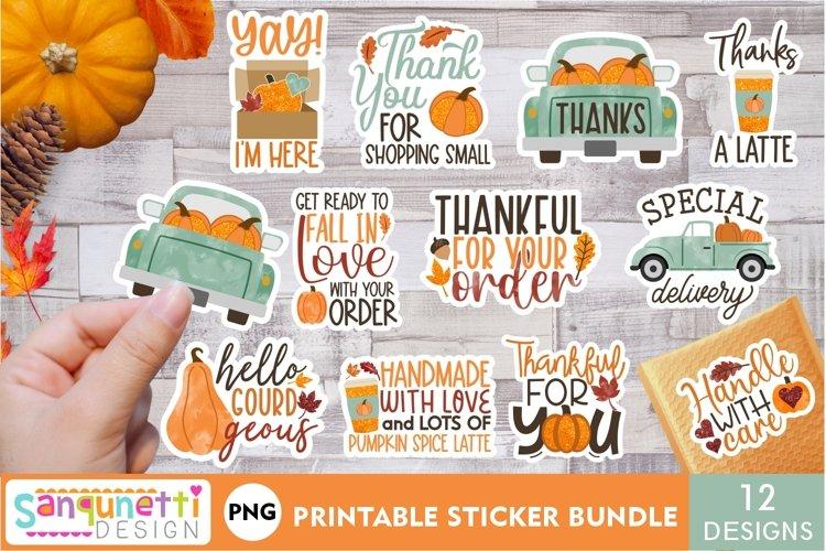 Fall Small Business & packaging sticker bundle